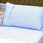 Rattan bed 2 — Stock Photo