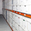 Boxes rack — Foto de Stock