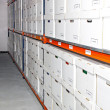 Stockfoto: Boxes rack