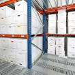 Boxes storehouse — Foto Stock