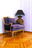 Purple armchair — Stock Photo