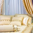 Stock Photo: Bed canopy