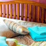 Purple bedroom 2 — Stock Photo