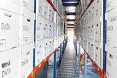 Data boxes rows — Stock Photo