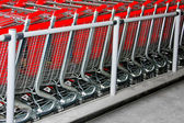Shopping carts angle — Stock Photo