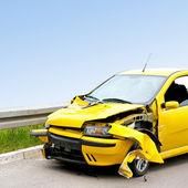 žlutá havárie — Stock fotografie