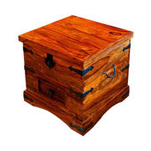 Wooden chest angle — Stock Photo