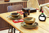 Natural dinning table — Stock Photo