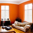 Orange room — Stock Photo