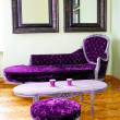 Purple furniture — Stock Photo