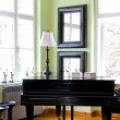 Black piano — Stock Photo