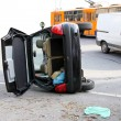 Stock Photo: Roll over crash