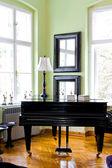 Black piano — Stock Photo