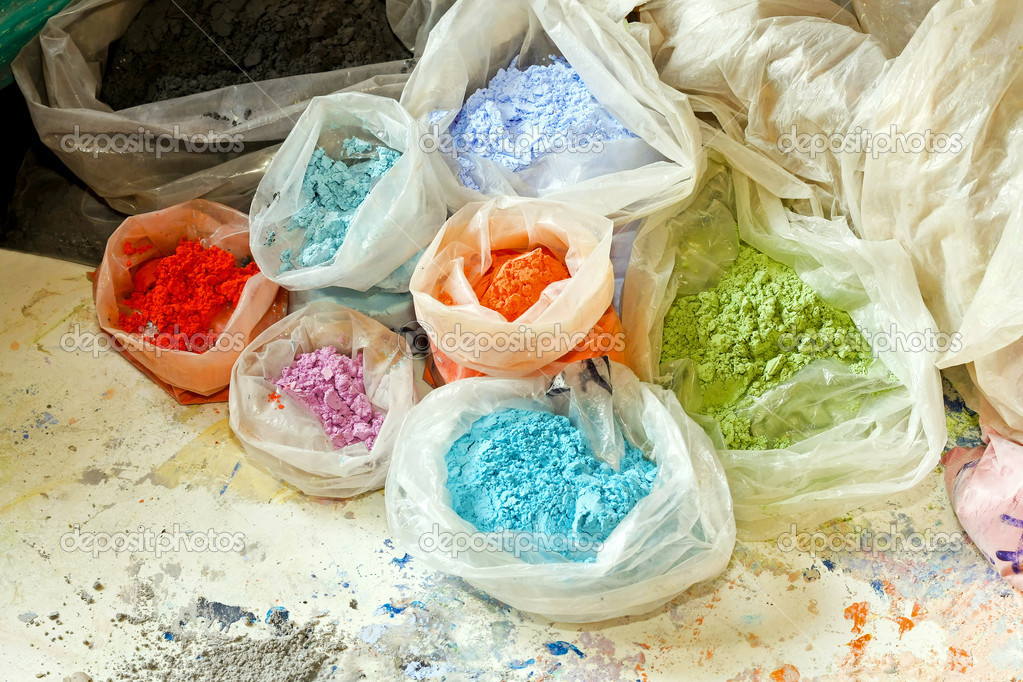 Color dust ant dyes for painting mix — Stock Photo #2177104