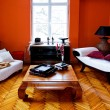 Orange interior — Stock Photo