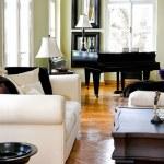 Piano room angle — Stock Photo