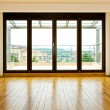 Four glass doors — Stock Photo
