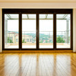 Four glass doors - Stock Photo