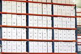 Ângulo de caixas — Fotografia Stock
