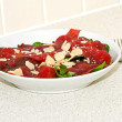 Served Carpaccio — Stock Photo