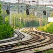 Curved railroad - Stockfoto