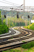 Curved railroad — Stockfoto