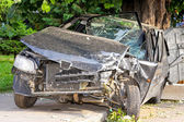 Frontal crash — Stockfoto