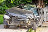 Hoofd op crash — Stockfoto
