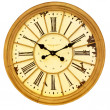Sepia clock — Stock Photo