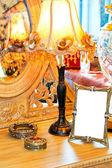 Vintage table — Stock Photo