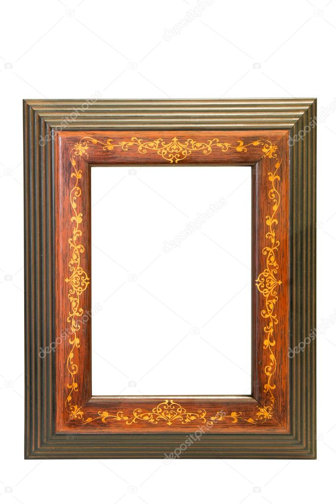 Oriental style frame isolated included clipping path — Stock Photo #2263649