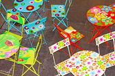 Tables and chairs — Stock Photo