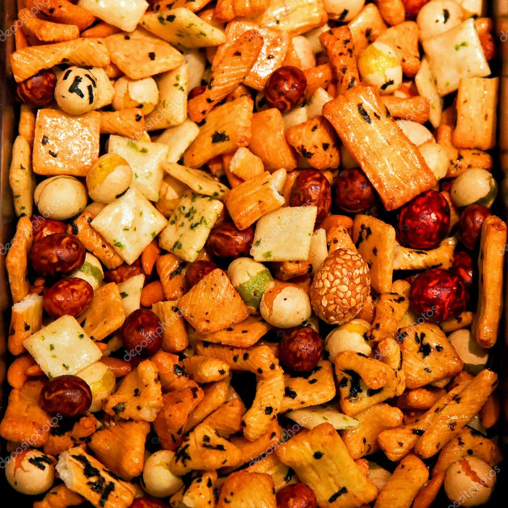 Rise cracker mix traditional Japanese snack food — Stock Photo #2271269