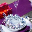 Royalty-Free Stock Photo: Purple tabletop