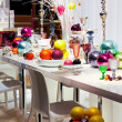 Colorful Christmas table — Stock Photo