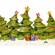 Christmas tree decor — Stock Photo