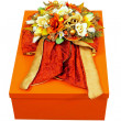 Floral gift box — Stock Photo