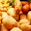 Stock Photo: Various potatoes