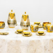 Gold tea set — Stock Photo