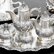 Silver tea set — Stock Photo #2472681