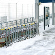 Stock Photo: Trolleys platform
