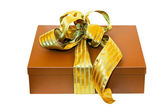 Brown gift wrap — Stock Photo