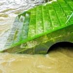 Green stairway — Stock Photo