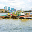 Pontoons at Thames — Stockfoto