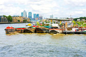 Pontoons at Thames — ストック写真