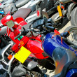 Motorbike parking - Stock Photo
