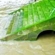 Green stairs — Stock Photo