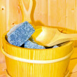 Sauna bucket — Stock Photo
