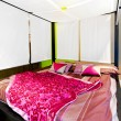 Stock Photo: Canopy bed