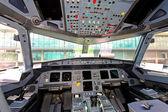 Aircraft cockpit — Stock Photo